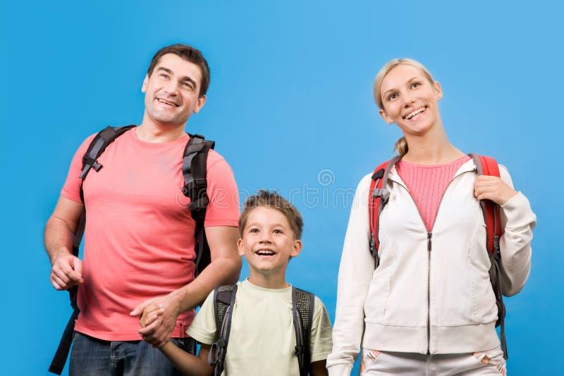 Familie onbeweeglijk stock afbeelding