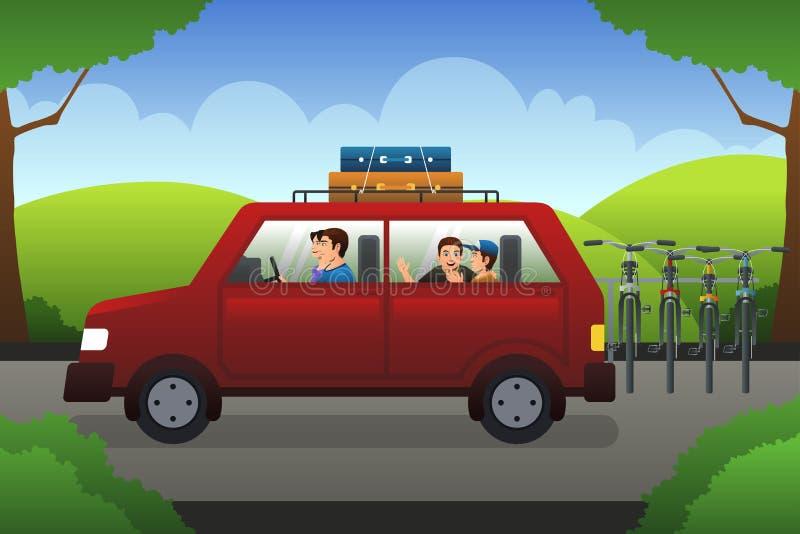 Familie op een wegreis vector illustratie