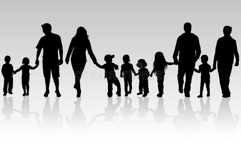 Familie in openlucht vector illustratie