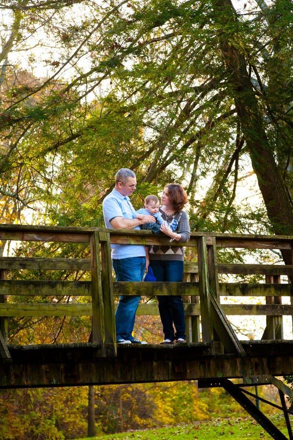 Download Familie am Park stockfoto. Bild von spaß, fall, herbst - 27732586