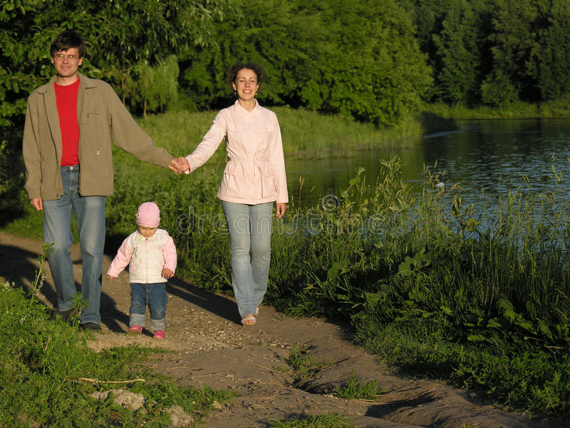 Familie in park royalty-vrije stock fotografie
