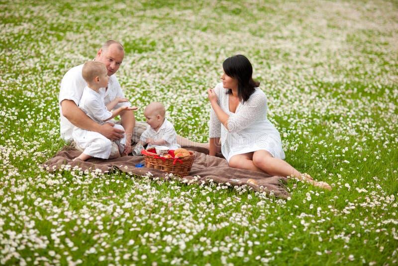 Familie picknic lizenzfreies stockfoto