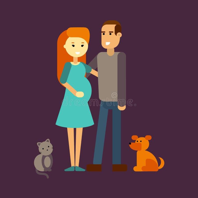 Familie samen vector royalty-vrije stock afbeeldingen