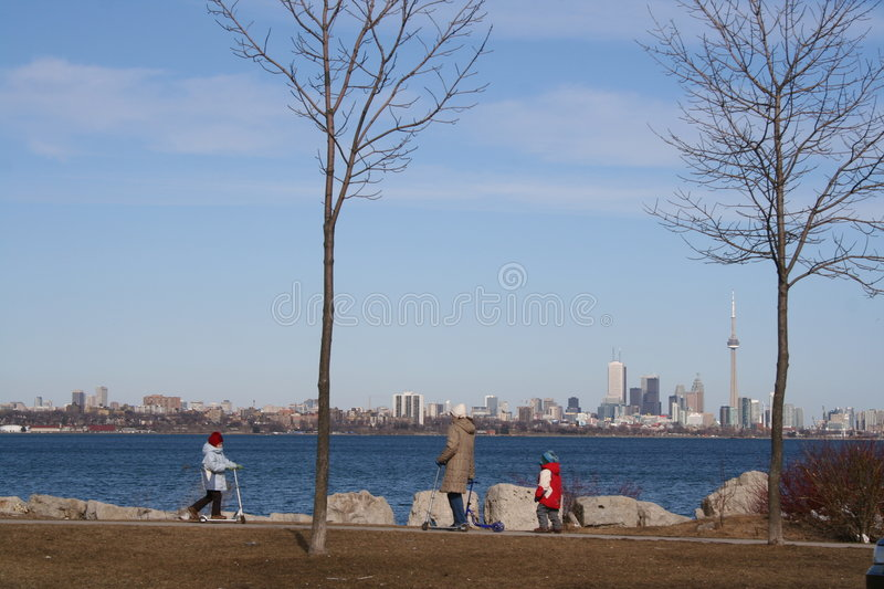 Familie in Toronto stockbild