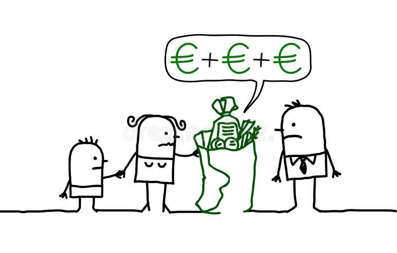 Familie u. Finanzierung lizenzfreie abbildung