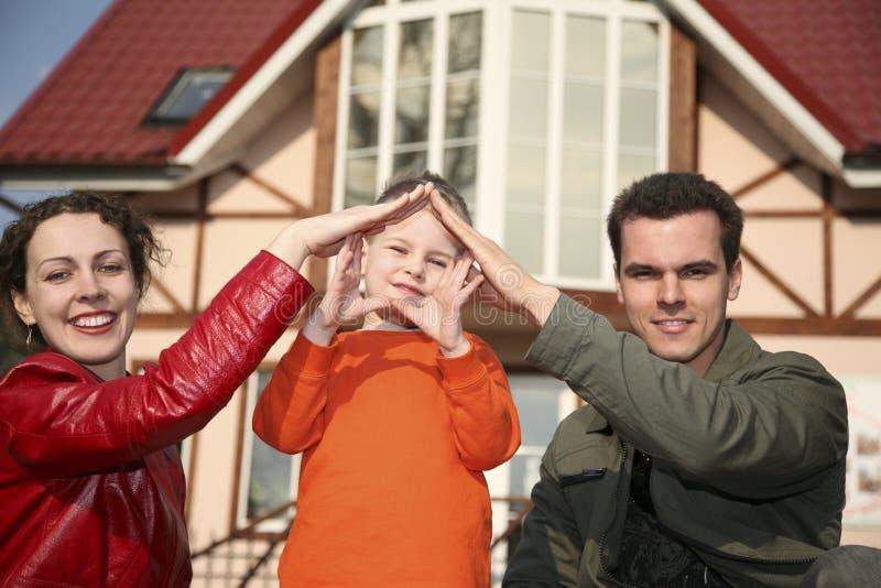 Familie und Haus stockfotos