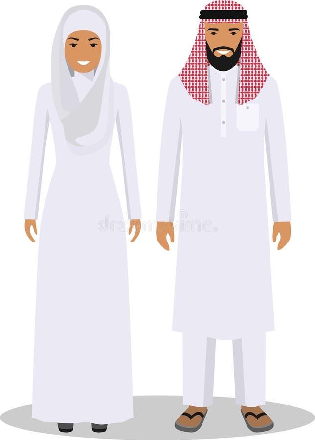 Familie Und Sozialkonzept Moslemische Arabische Männer Und Frauen ...