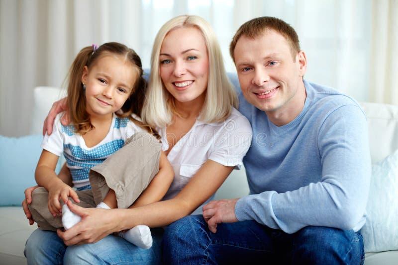 Familie van drie royalty-vrije stock afbeelding