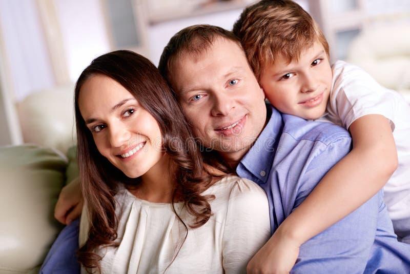 Familie van drie royalty-vrije stock fotografie