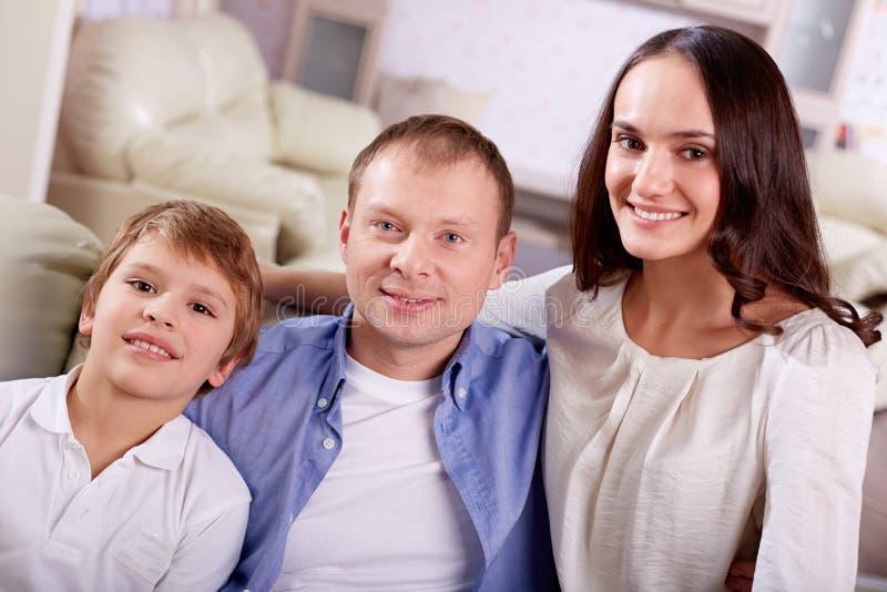 Familie van drie stock fotografie