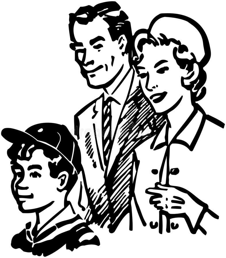 Familie van drie vector illustratie