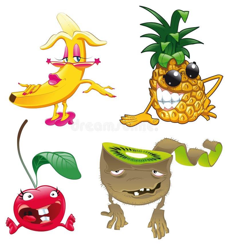 Familie van fruit vector illustratie