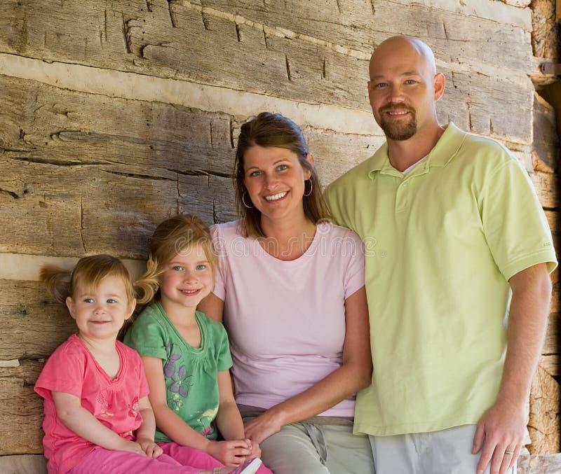Familie van Vier royalty-vrije stock afbeelding