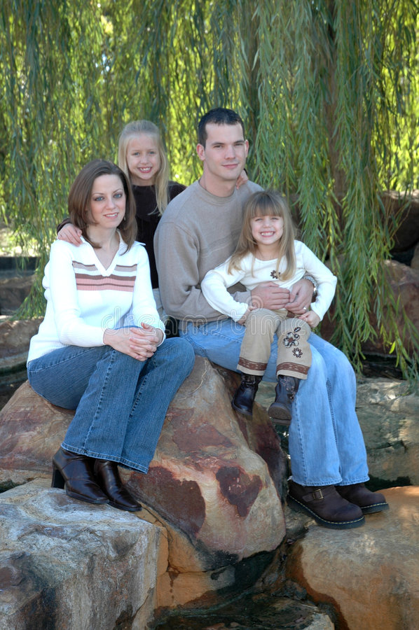 Familie van Vier royalty-vrije stock foto