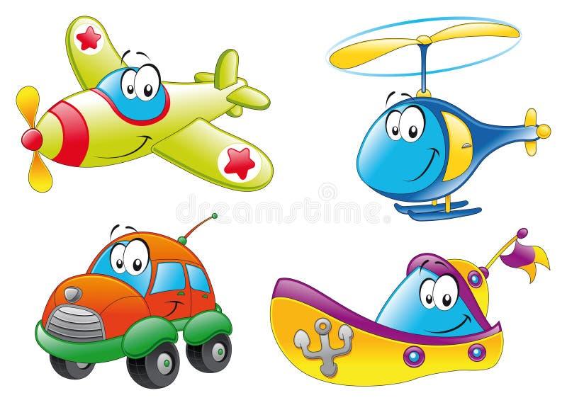 Familie van voertuigen stock illustratie