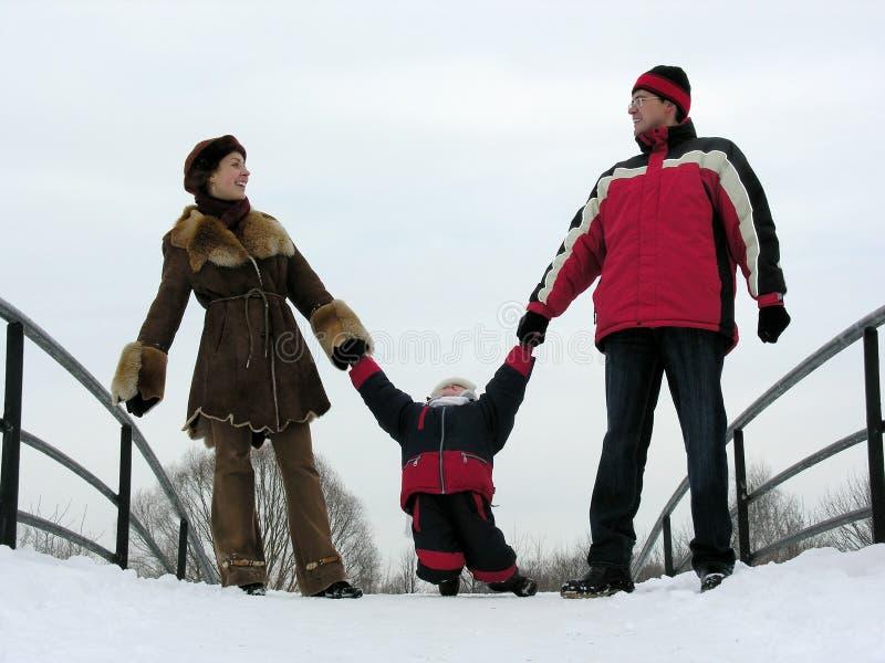 Familie von drei lizenzfreie stockfotos