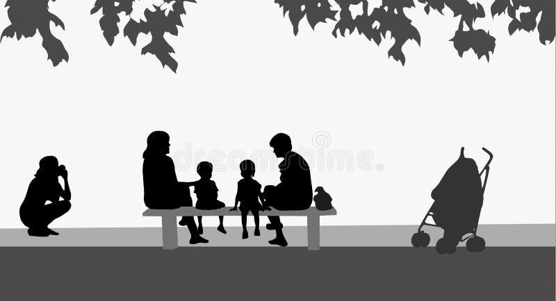 Familie zusammen lizenzfreie abbildung