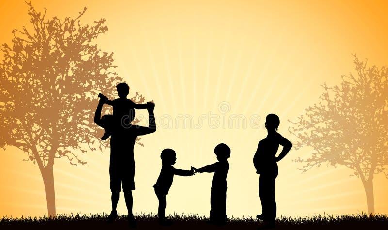 Familie zusammen stock abbildung