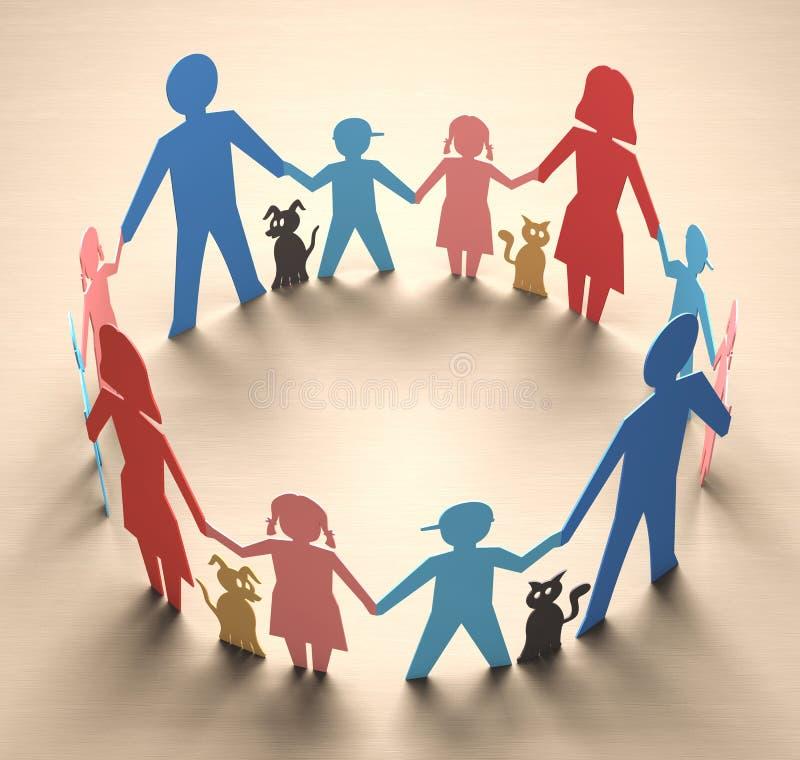 Familiecirkel vector illustratie