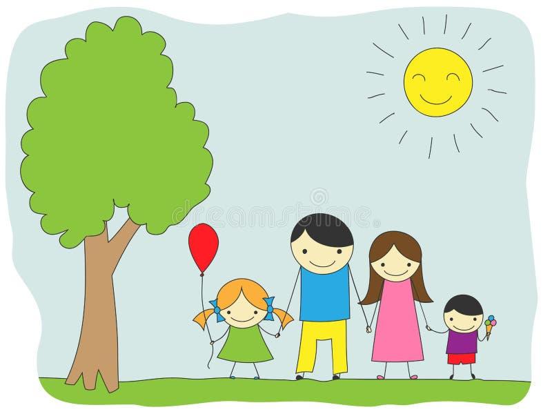 Familiedag stock illustratie