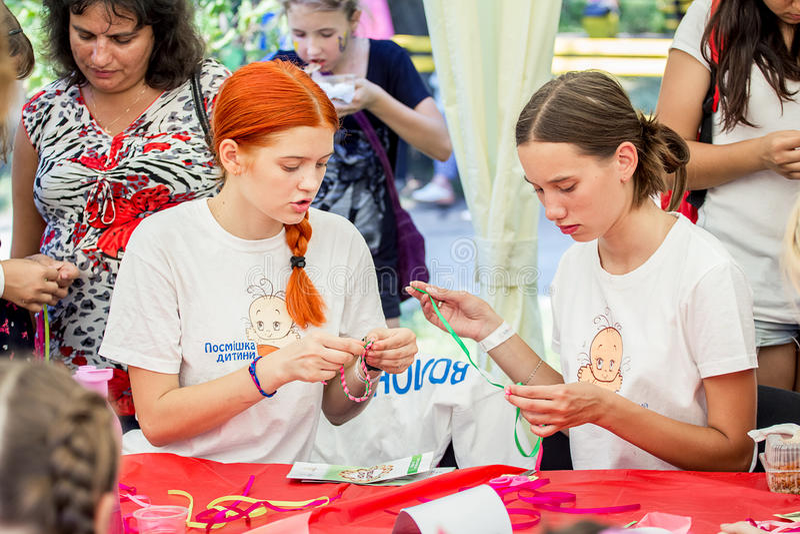 Familiefestival in Zaporozhye, de Oekraïne stock afbeelding