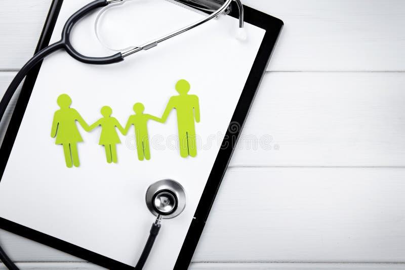 Familiegezondheid en levensverzekeringsconcept stock foto