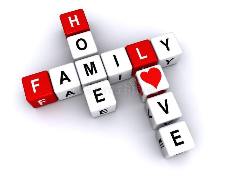 Familiehuis en liefde royalty-vrije illustratie