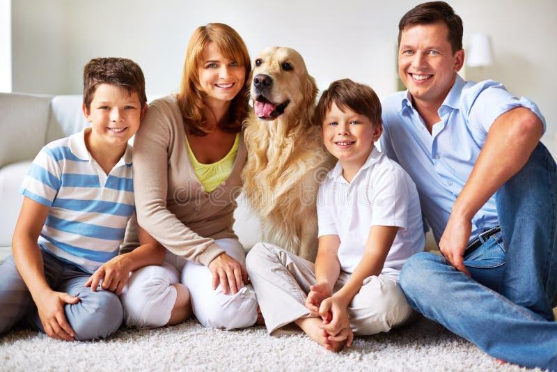 Familieleden royalty-vrije stock foto's