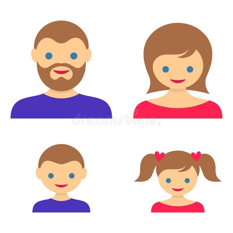 Familielidpictogrammen vector illustratie