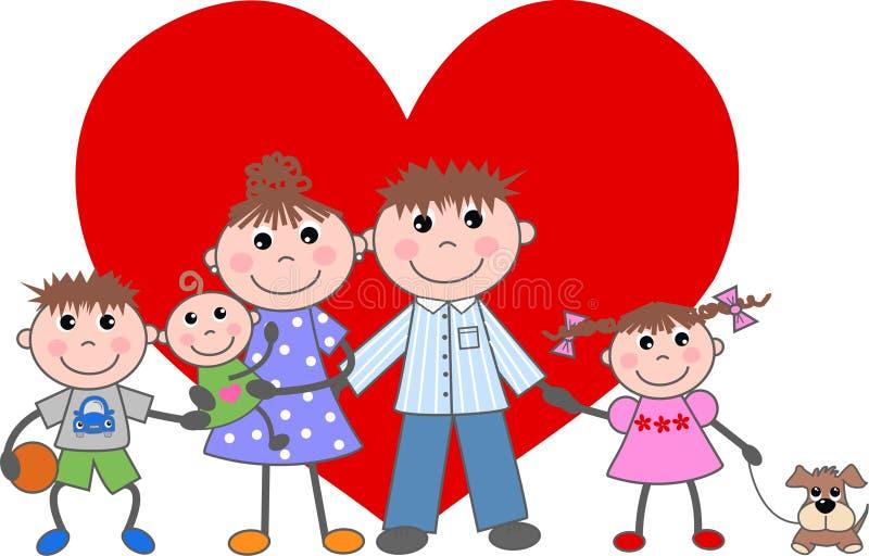 Familieliefde stock illustratie