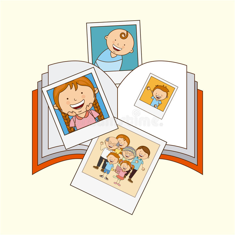 Familieliefde royalty-vrije illustratie