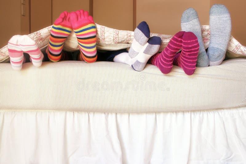 Familien-Bett lizenzfreies stockbild