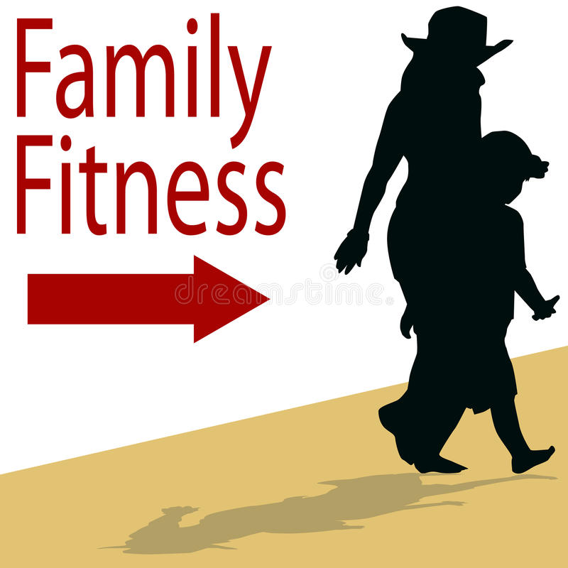 Familien-Eignung stock abbildung