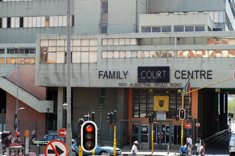 Familien-Gerichts-Mitte in Johannesburg stockfotografie