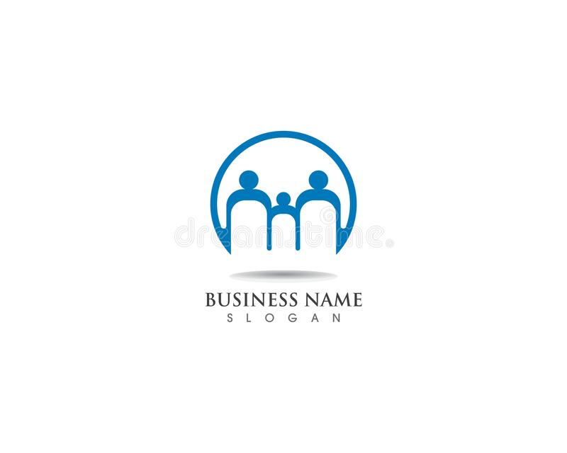 Familien-gesundes Logoschablonenvektor-Ikonendesign lizenzfreie abbildung