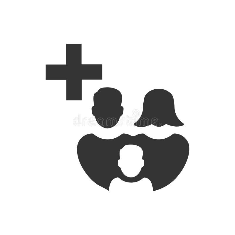 Familien-Gesundheitswesen-Ikone vektor abbildung