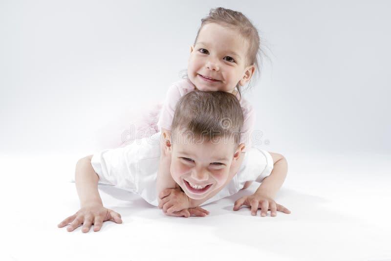 sexy Bild der Schwester und des Bruders
