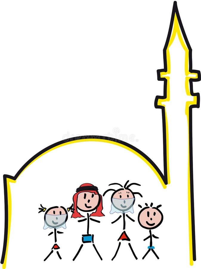 Familien-Moschee lizenzfreie stockfotografie