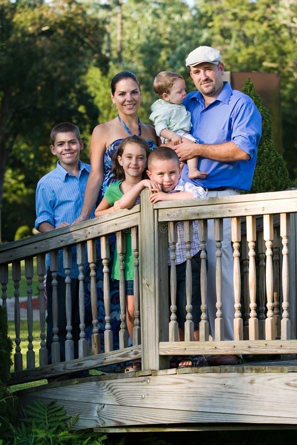 Familien-Portrait stockfotografie