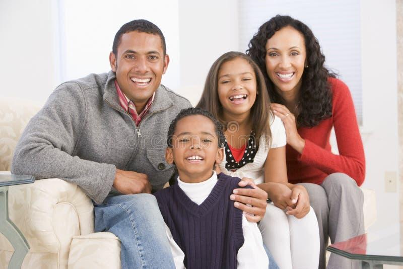 Familien-Portrait am Weihnachten lizenzfreie stockbilder