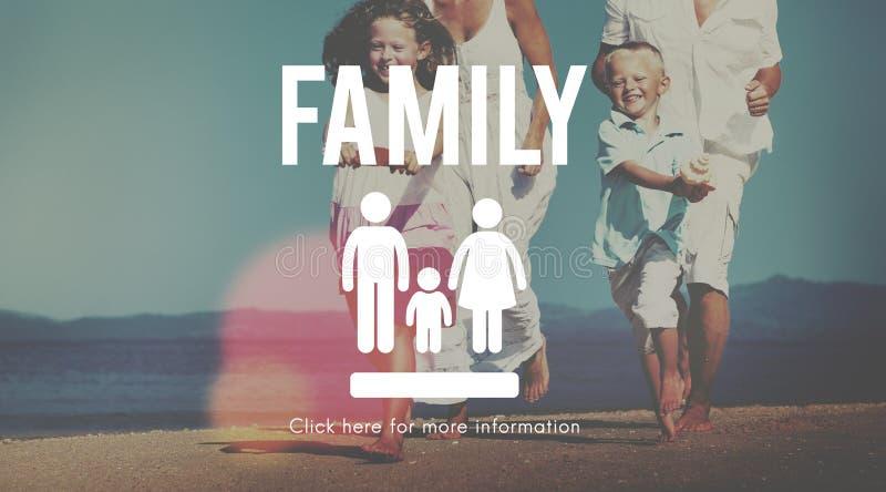 Familien-Sorgfalt-Genealogie-Liebes-in Verbindung stehendes Hauptkonzept lizenzfreies stockbild