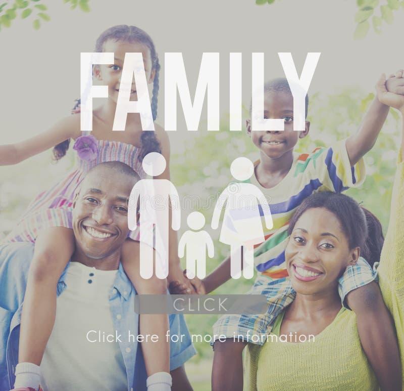 Familien-Sorgfalt-Genealogie-Liebes-in Verbindung stehendes Hauptkonzept lizenzfreie stockfotografie