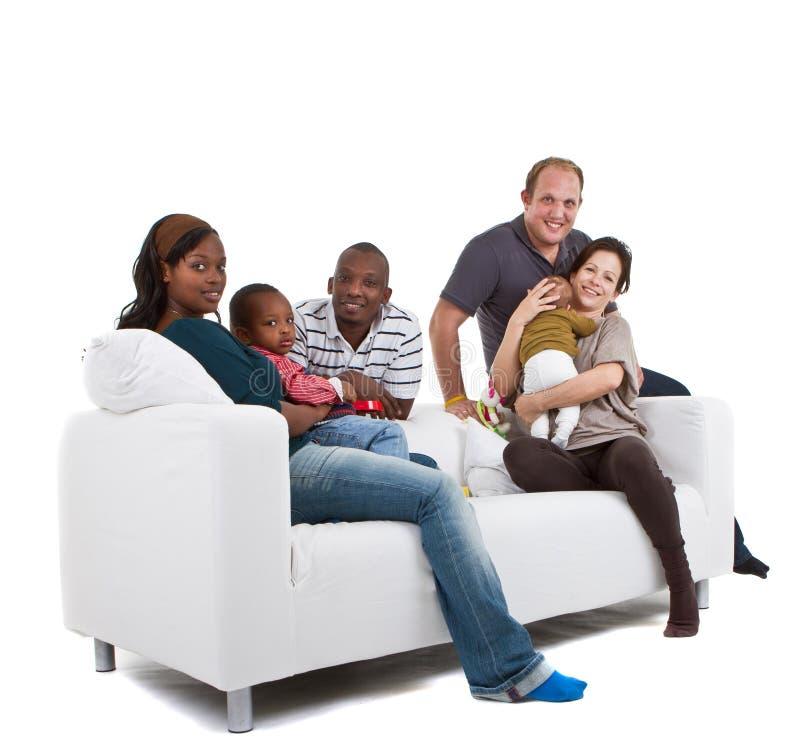 Familien und Freunde lizenzfreie stockfotos