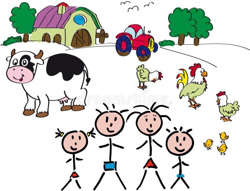 Familien-Vieh stockbilder