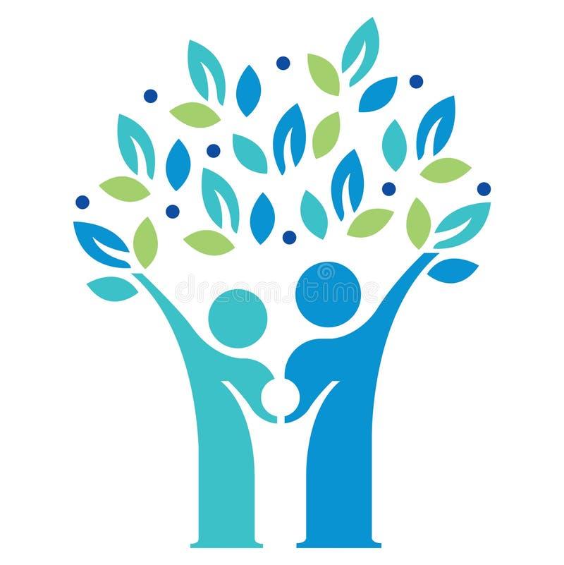 Familien-wachsender Baum lizenzfreie abbildung