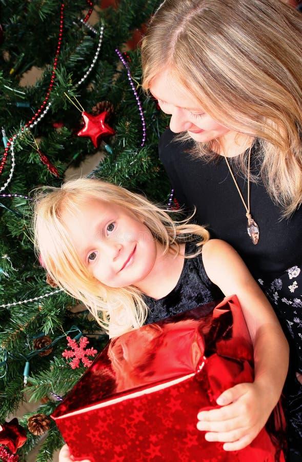 Familien-Weihnachten stockfoto
