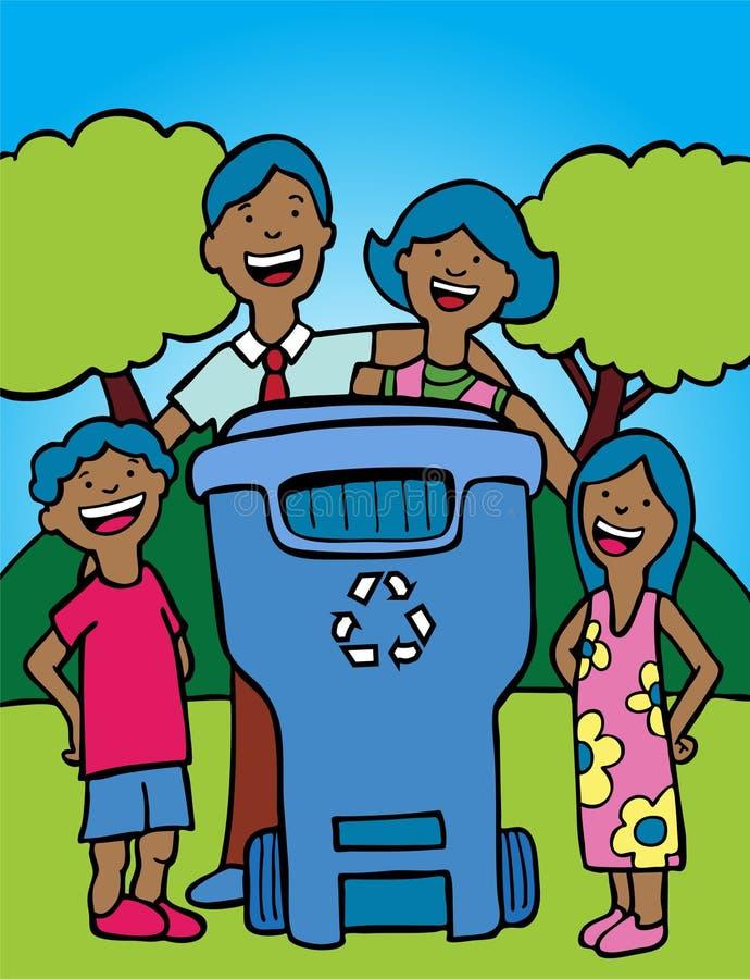 Familien-Wiederverwertung vektor abbildung