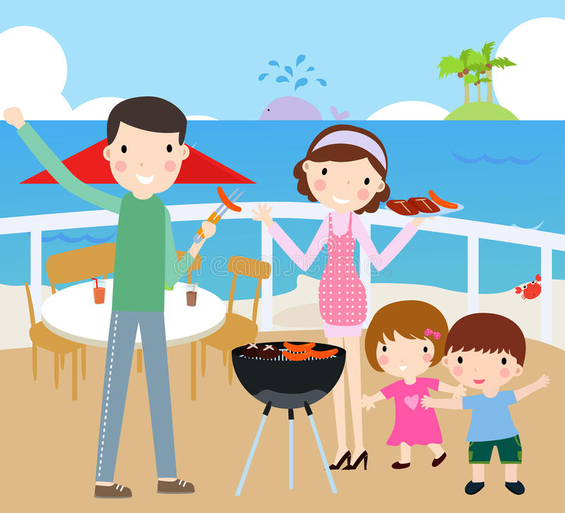 Familien-Zeit lizenzfreie abbildung