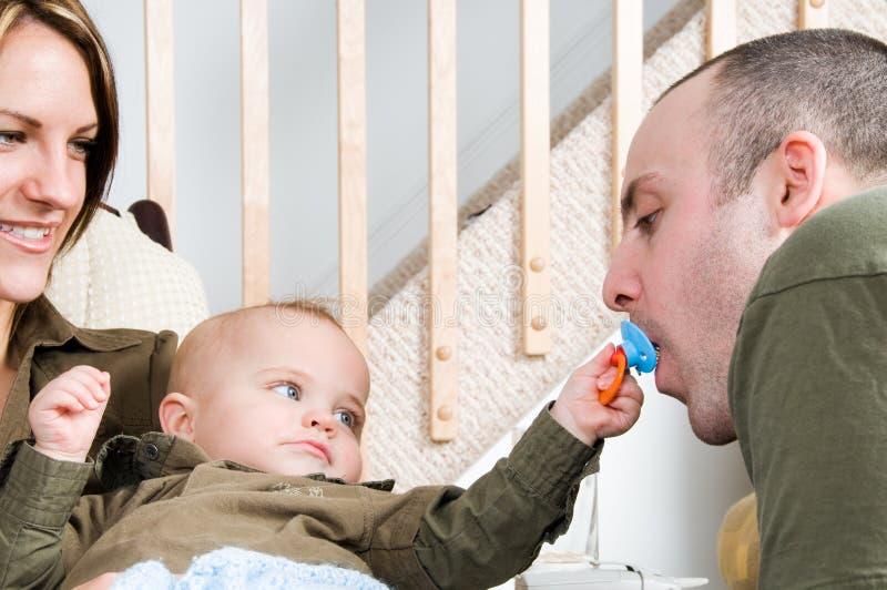 Familien-Zeit stockbild