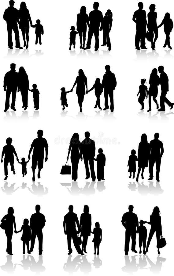 Familien-Zusammengehörigkeits-Vektor lizenzfreie abbildung